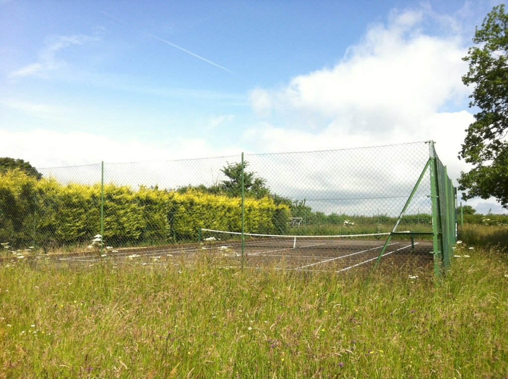 Our private tennis court!